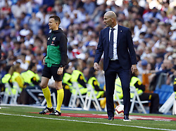March 16, 2019 - Madrid, Madrid, Spain - Real Madrid CF's Zinedine Zidane seen in action during the Spanish La Liga match round 28 between Real Madrid and RC Celta Vigo at the Santiago Bernabeu Stadium in Madrid. (Credit Image: © Manu Reino/SOPA Images via ZUMA Wire)