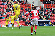 AFC Wimbledon defender & captain Barry Fuller (2) during the EFL Sky Bet League 1 match between Charlton Athletic and AFC Wimbledon at The Valley, London, England on 17 September 2016. Photo by Stuart Butcher.