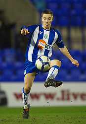 BIRKENHEAD, ENGLAND - Thursday, March 25, 2010: Wigan Athletic's captain Jon Routledge during the FA Premiership Reserves League (Northern Division) match against Liverpool at Prenton Park. (Photo by David Rawcliffe/Propaganda)
