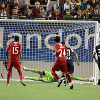 Newcastle United Goalkeeper Fraser Forester (21) makes a save during an International Friendly soccer match between English Premier League team Newcastle United and the Orlando City Lions of the United Soccer League, at the Florida Citrus Bowl on Saturday, July 23, 2011 in Orlando, Florida. Orlando won the match 1-0. (AP Photo/Alex Menendez)