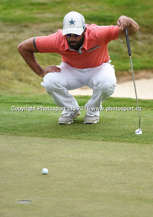 NSW's James Nitties during Round 3 at The Hills during 2016 BMW ISPS Handa New Zealand Open. Saturday 12 March 2016. Arrowtown, New Zealand. Copyright photo: Andrew Cornaga / www.photosport.nz