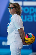 Referee<br /> GER - TUR<br /> Germany (white caps) vs Turkey (blue caps) <br /> Barcelona 19/07/18 Piscines Bernat Picornell <br /> Women qualification<br /> 33rd LEN European Water Polo Championships - Barcelona 2018 <br /> Photo Giorgio Scala/Deepbluemedia/Insidefoto