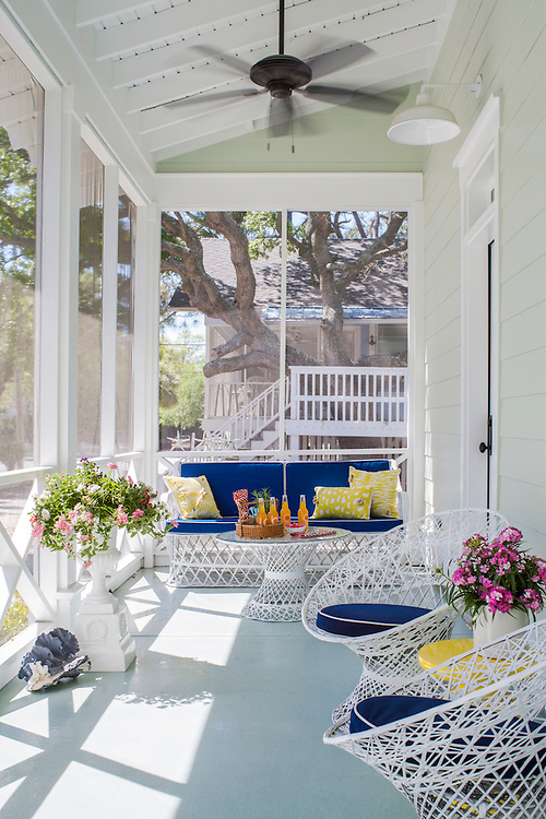 Beautiful Tybee Island Home home photographed for Cottage Style Magazine