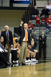 19 March 2010: Coach Brian Morehouse.The Flying Dutch of Hope College defeat the Yellowjackets of the University of Rochester in the semi-final round of the Division 3 Women's Basketball Championship by a score of 86-75 at the Shirk Center at Illinois Wesleyan in Bloomington Illinois.
