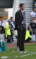 Roy Keane patrols the touchline during the last moments at Pride Parkl. Derby County v Sunderland