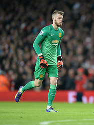Manchester United's David De Gea - Photo mandatory by-line: Alex James/JMP - Mobile: 07966 386802 - 22/11/2014 - Sport - Football - London - Emirates Stadium - Arsenal v Manchester United - Barclays Premier League