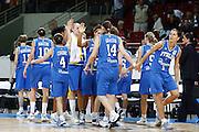 DESCRIZIONE : Riga Latvia Lettonia Eurobasket Women 2009 Quarter Final Spagna Italia Spain Italy<br /> GIOCATORE : La squadra Team<br /> SQUADRA : Italia Italy<br /> EVENTO : Eurobasket Women 2009 Campionati Europei Donne 2009 <br /> GARA : Spagna Italia Spain Italy<br /> DATA : 17/06/2009 <br /> CATEGORIA : delusione<br /> SPORT : Pallacanestro <br /> AUTORE : Agenzia Ciamillo-Castoria/E.Castoria