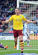 Sam Vokesy of Burnley celebrates his goal during the Sky Bet Championship match at the John Smiths Stadium, Huddersfield<br /> Picture by Graham Crowther/Focus Images Ltd +44 7763 140036<br /> 12/03/2016