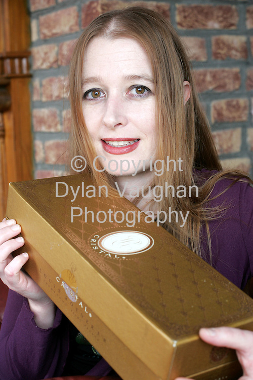 5/10/2004.Examiner Property Object of Desire.Dawn Kenny from Thomastown County Kilkenny with her object of desire a champagne box that once belonged to Carly Simon..Picture Dylan Vaughan