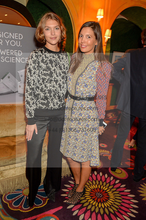 Left to right, ARIZONA MUSE and AMANDA SHEPPARD at the launch of GP Nutrition held at Annabel's, 44 Berkeley Square, London on 26th January 2016.