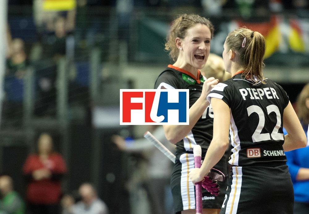 BERLIN - Indoor Hockey World Cup<br /> Final: Netherlands - Germany<br /> foto: Cecile Pieper <br /> WORLDSPORTPICS COPYRIGHT FRANK UIJLENBROEK