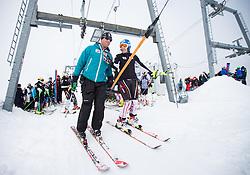 10.10.2012, Hintertuxer Gletscher, Tux, AUT, OeSV, Training, im Bild Guenter Obkircher OeSV Trainer und Marlies Schild (AUT) // Guenter Obkircher OeSV Coach and Marlies Schild of Austria during a practice session of the Austrian Ski Team 'OeSV' at Hintertuxer Gletscher in Tux, Austria on 2012/10/10. EXPA Pictures © 2012, PhotoCredit: EXPA/ J. Groder