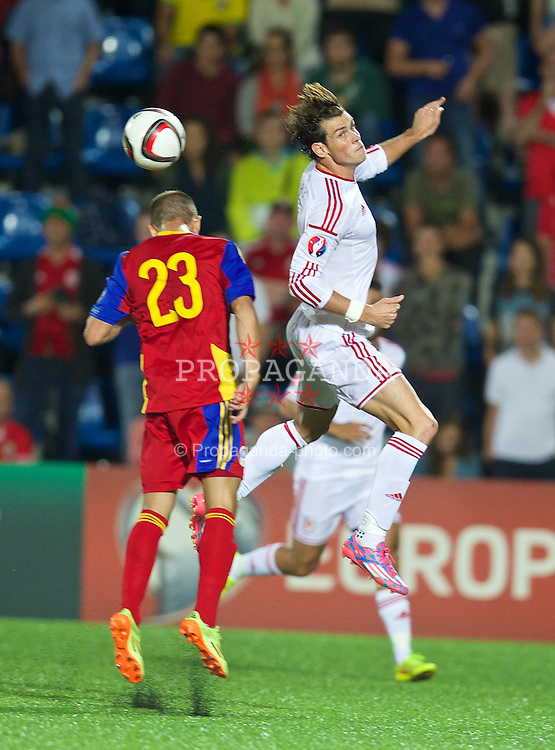 ANDORRA LA VELLA, ANDORRA - Tuesday, September 9, 2014: Wales' Gareth Bale in action against Andorra during the opening UEFA Euro 2016 qualifying match at the Camp d'Esports del M.I. Consell General. (Pic by David Rawcliffe/Propaganda)