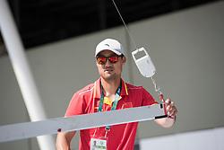 Brazil Rio de Janeiro 4. August 2016 Marina di Gloria, Rio 2016 Olympic Games<br /> Preparation day<br /> Finn CHN Gong Lei CHNLG1<br /> <br /> <br /> ©Jürg Kaufmann go4image.com