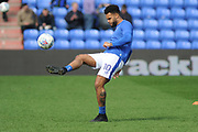 Oldham Athletic Forward, Aaron Holloway (10)  during the EFL Sky Bet League 1 match between Oldham Athletic and Gillingham at Boundary Park, Oldham, England on 14 April 2018. Picture by Mark Pollitt.
