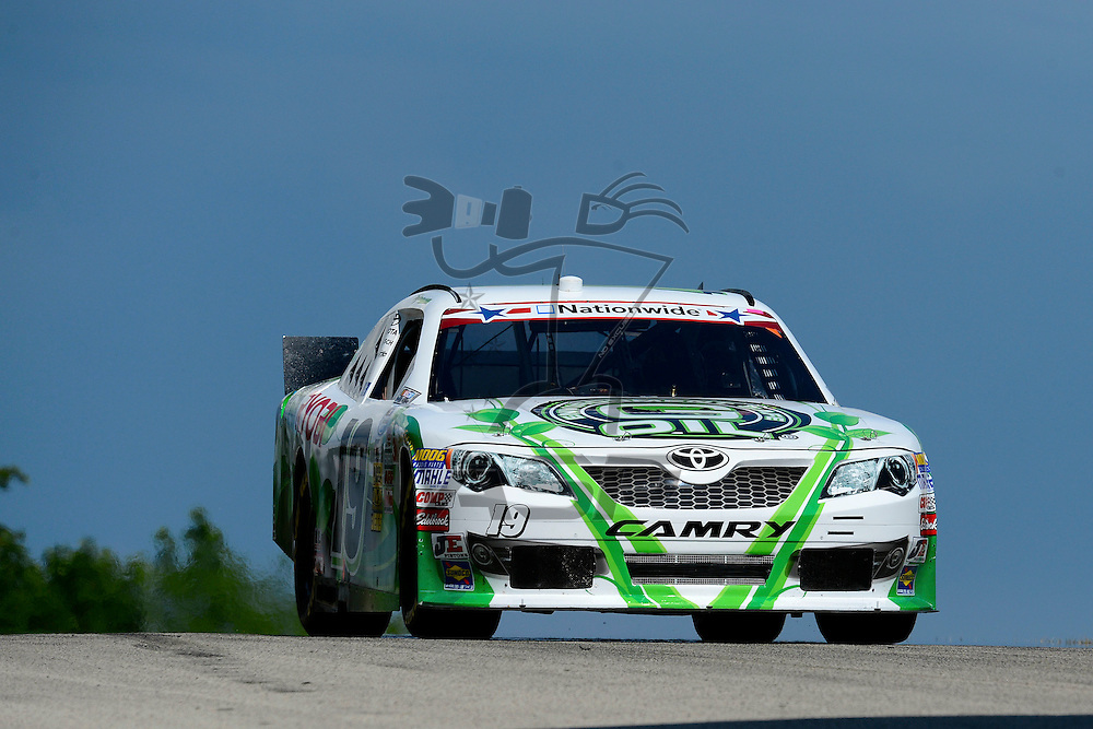 Elkhart Lake,WI - JUN 22, 2012: Tayler Malsam (19) during practice for the Sargento 200  race at the Road of America in Elkhart Lake , WI.