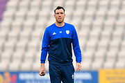 Kyle Abbott of Hampshire warming up before the second day of play in the Specsavers County Champ Div 1 match between Hampshire County Cricket Club and Essex County Cricket Club at the Ageas Bowl, Southampton, United Kingdom on 28 April 2018. Picture by Graham Hunt.