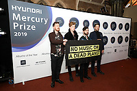Foals attends the media room during the 2019 Hyundai Mercury Prize Launch, Eventim Apollo, London, UK, Saturday 06 July 2019<br /> Photo JM Enternational