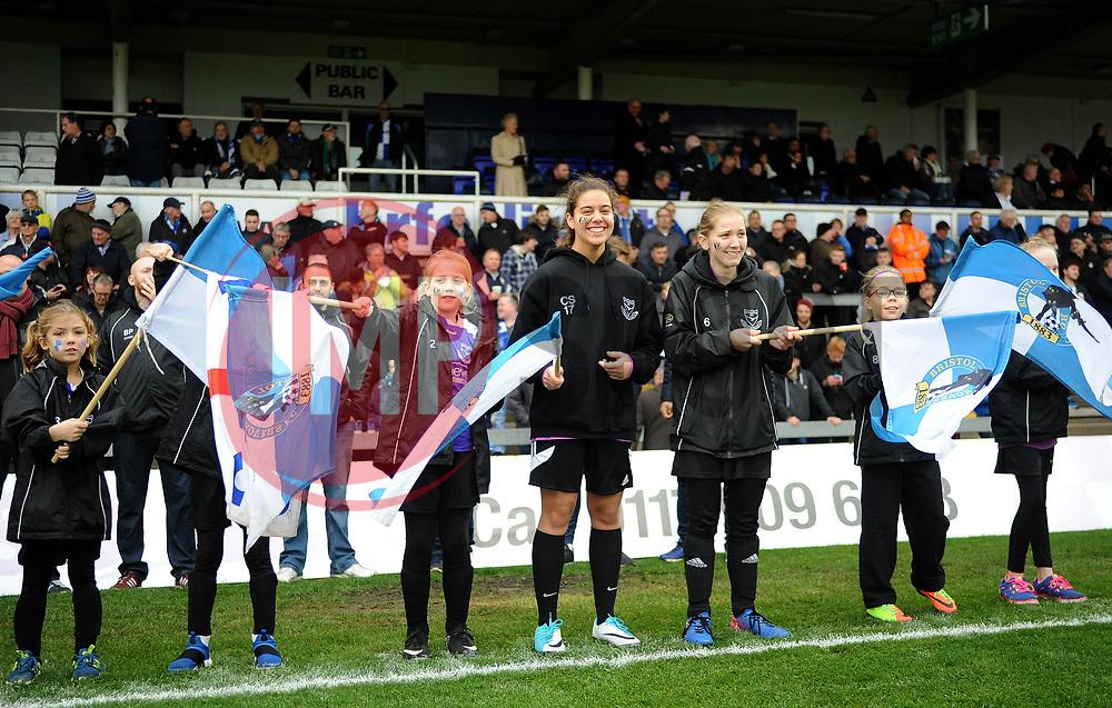 Flags - Mandatory by-line: Neil Brookman/JMP - 18/11/2017 - FOOTBALL - Memorial Stadium - Bristol, England - Bristol Rovers v AFC Wimbledon - Sky Bet League One