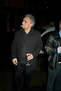 Hanif Kureishi, party to celebrate the 100th issue of Granta magazine ( guest edited by William Boyd.) hosted by Sigrid Rausing and Eric Abraham. Twentieth Century Theatre. Westbourne Gro. London.W11  15 January 2008. -DO NOT ARCHIVE-© Copyright Photograph by Dafydd Jones. 248 Clapham Rd. London SW9 0PZ. Tel 0207 820 0771. www.dafjones.com.