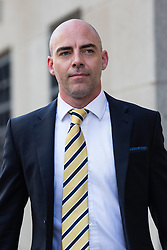 © Licensed to London News Pictures. 24/07/2014. London, UK. Former News of the World reporter, Dan Evans arrives at the Old Bailey in London for sentencing on 24th July 2014. Photo credit : Vickie Flores/LNP