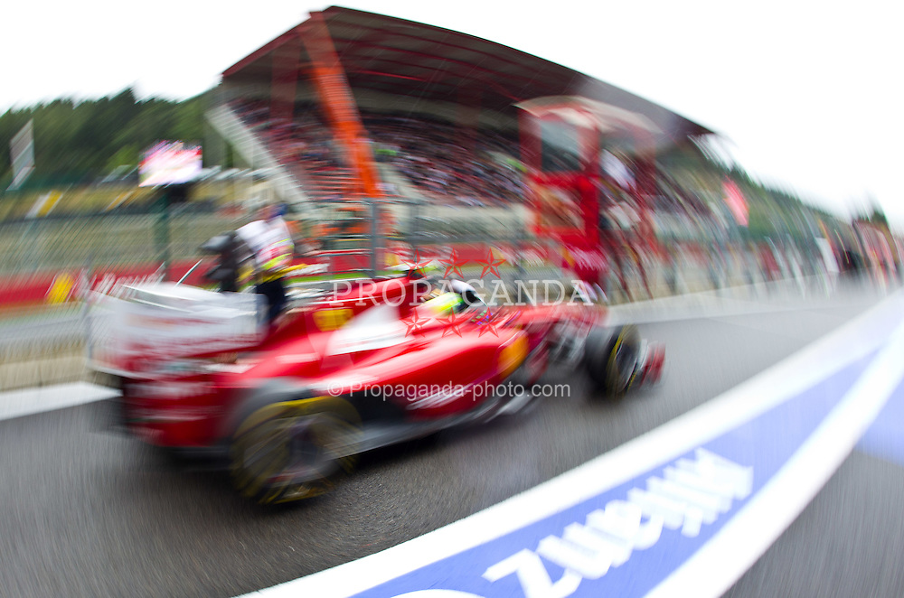 26.08.2011, Circuit de Spa, Francorchamps, BEL, F1, Grosser Preis von Belgien, 2 Freies Training, im Bild feature mit Ferarrie in der Boxengasse // during practice two at Formula One Championships 2011 Belgian Grand Prix held at the Circuit de Spa, Francorchamps, Belgium, 26/8/2011, EXPA Pictures © 2011, PhotoCredit: EXPA/ J. Groder