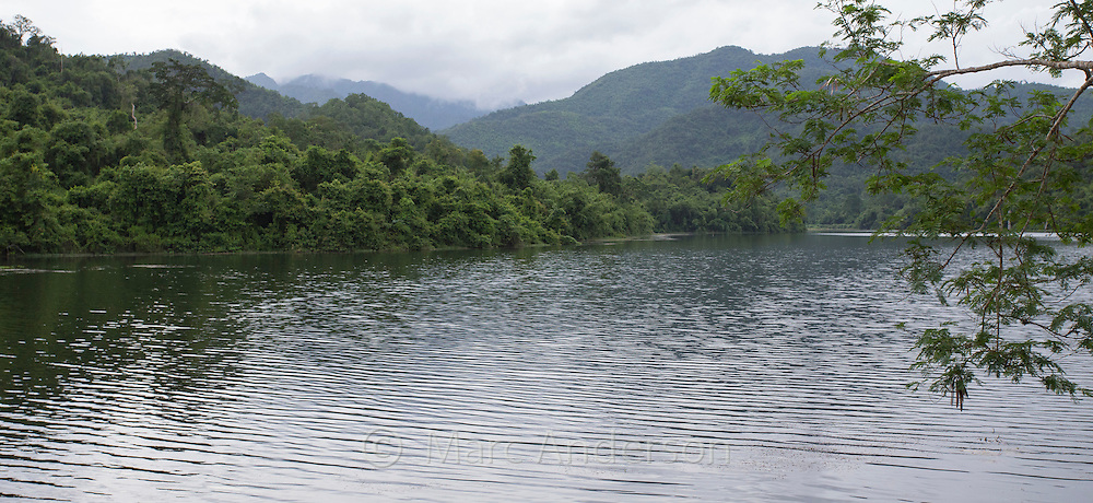 View of rainforest and hills in Kaeng Krachan National Park, Thailand