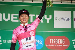 Coryn Rivera (USA) leads the points competition after OVO Energy Women's Tour 2018 - Stage 2, a 145 km road race from Rushden to Daventry, United Kingdom on June 14, 2018. Photo by Sean Robinson/velofocus.com