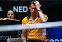 09-02-2019 NED: Fed Cup Netherlands - Canada, Den Bosch<br /> The Netherlands loses on the first day of Canada during the first round of the Tennis FedCup. The Dutch FedCup team plays after four years at home and is 2-0 behind / Captain Paul Haarhuis