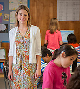 Morgan Bryan teaches her 5th grade class at Condit Elementary School, May 15, 2013.