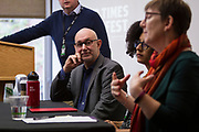 Author Dean Robbins looks on during the Cap Times Idea Fest 2018 at the Pyle Center in Madison, Wisconsin, Saturday, Sept. 29, 2018.