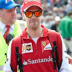 Sebastian Vettel of Scuderia Ferrari.<br /> Round 1 - opening day of the 2015 Formula 1 Rolex Australian Grand Prix at The circuit of Albert Park, Melbourne, Victoria on the 12th March 2015.<br /> Wayne Neal | SportPix.org.uk