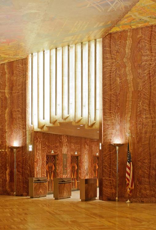Interior - New York. Chrysler Building, New York City, designed by William Van Alen in 1928