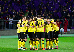 Players of Sevilla during football match between NK Maribor and Sevilla FC (ESP) in 1st Leg of Round of 32 of UEFA Europa League 2014 on February 20, 2014 at Stadium Ljudski vrt, Maribor, Slovenia. Photo by Vid Ponikvar / Sportida