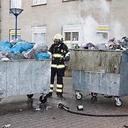 NLD/Huizen/20100323 -  Container brand in bejaardentehuis De marke te Huizen