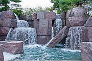 Franklin Delano Roosevelt Memorial,  Waterfalls, National Mall, Washington D.C. USA