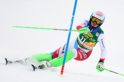 January 7, 2018 - Kranjska Gora, Gorenjska, Slovenia - Denise Feierbend of Switzerland competes on course during the Slalom race at the 54th Golden Fox FIS World Cup in Kranjska Gora, Slovenia on January 7, 2018. (Credit Image: © Rok Rakun/Pacific Press via ZUMA Wire)