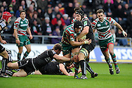Julian Salvi of the Tigers © gets past Joe Bearman of the Ospreys ®. Heineken cup rugby, pool 2, Ospreys v Leicester Tigers at the Liberty Stadium in Swansea, South Wales on Sunday 13th Jan 2013. pic by Andrew Orchard, Andrew Orchard sports photography,