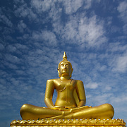 Golden Buddha at Wat Thanon Mamuang (Wat on the street of mangoes) in Tha Mai, Chanthaburi province, Thailand