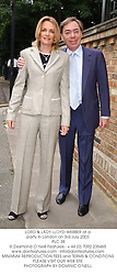 LORD & LADY LLOYD-WEBBER at a party in London on 3rd July 2003.<br /> PLC 38