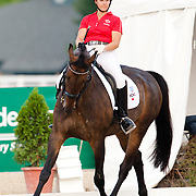 Madison Lawson and McGuire at the 2012 North American Junior and Young Rider Championships in Lexington, Kentucky.