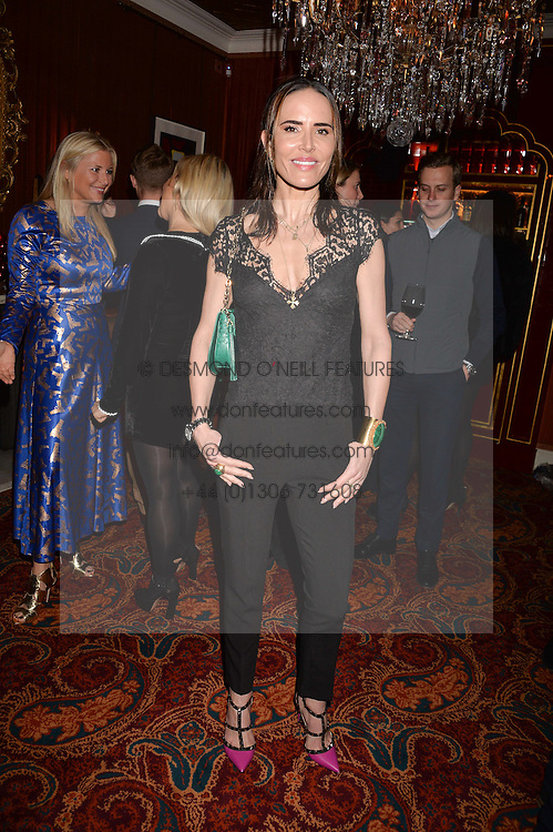Sophie Anderton at a party to launch the Barr & Bass 'Aya' brand at Mark's Club, 46 Charles Street, Mayfair, London England. 14 December 2016.