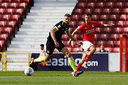 Swindon Town forward Jerry Yates crosses the ball during the EFL Sky Bet League 2 match between Swindon Town and Macclesfield Town at the County Ground, Swindon, England on 14 September 2019.
