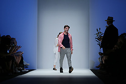 July 5, 2018 - Berlin, Berlin-Mitte, Germany - Designer IVANMAN on the catwalk during he presentation of his collection. (Credit Image: © Simone Kuhlmey/Pacific Press via ZUMA Wire)