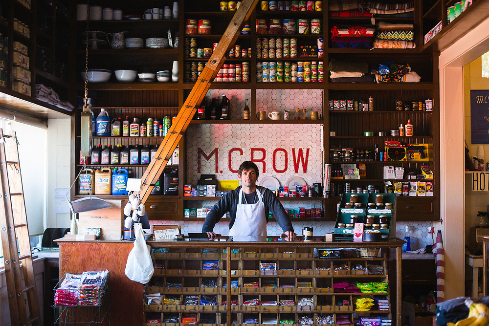 M. Crow store in Lostine, Oregon.