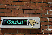 Stock photography of the sign for the Oasis mexican restaurant in Eureka Springs, Arkansas.