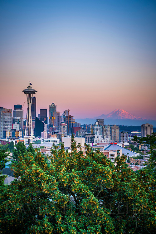 Seattle Skyline view from Kerry Park at Sunset, Seattle, Washington Seattle Skyline from Kerry Park