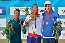 03/08/2017; Podium at 2017 World Para Athletics Junior Championships, Nottwil, Switzerland