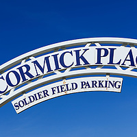 McCormick Place sign in Chicago. McCormick Place is Chicago's largest convention center and hosts trade shows and many other events.