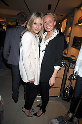 Left to right, TANYA SCMIKOV and MARTHA WARD at a party hosted by TOD's to celebrate the launch of the J.P.Loafer collection, held at the TOD's Boutique, 2-5 Old Bond Street, London on 31st March 2009.